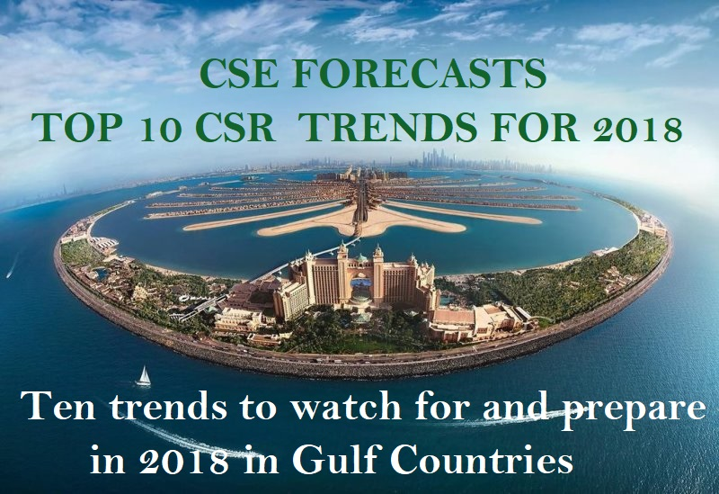 CSE, Top 10, Sustainability Trends 2018, Corporate responsibility, Certified CSR Practitioner Program, London 2018